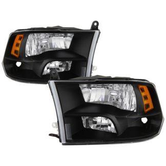 ( POE ) Dodge Ram 1500 09-17 / Ram 2500 3500 10-17 Halogen Models ( Don't Fit factory projector LED style)  OEM Style Headlights – Black
