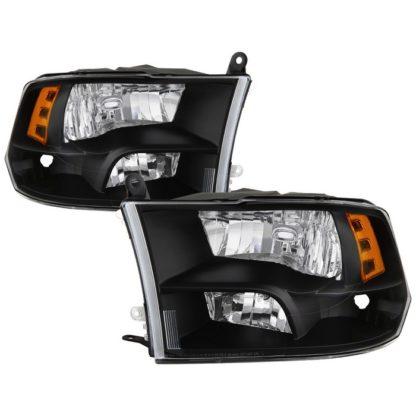 ( POE ) Dodge Ram 1500 09-17 / Ram 2500 3500 10-17 Halogen Models ( Don't Fit factory projector LED style)  OEM Style Headlights - Black
