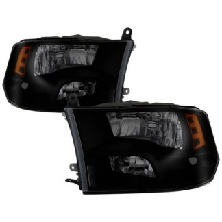 ( POE ) Dodge Ram 1500 09-17 / Ram 2500 3500 10-17 Halogen Models ( Don't Fit factory projector LED style)  OEM Style Headlights – Black Smoked