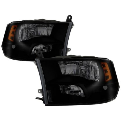 ( POE ) Dodge Ram 1500 09-17 / Ram 2500 3500 10-17 Halogen Models ( Don't Fit factory projector LED style)  OEM Style Headlights - Black Smoked