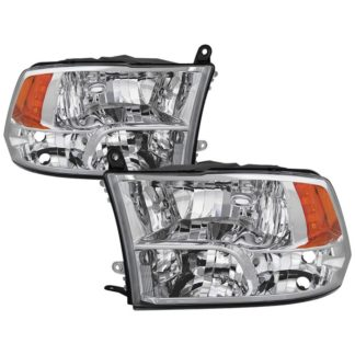 ( POE ) Dodge Ram 1500 09-17 / Ram 2500 3500 10-17 Halogen Models ( Don't Fit factory projector LED style)  OEM Style Headlights - Chrome