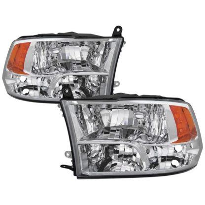 ( POE ) Dodge Ram 1500 09-17 / Ram 2500 3500 10-17 Halogen Models ( Don't Fit factory projector LED style)  OEM Style Headlights - Chrome
