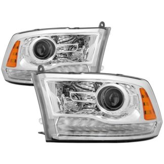( POE ) Dodge Ram 2013-2017 Halogen Models ( Only Fit Models with factory projector LED style)  OEM Style Headlights – Chrome