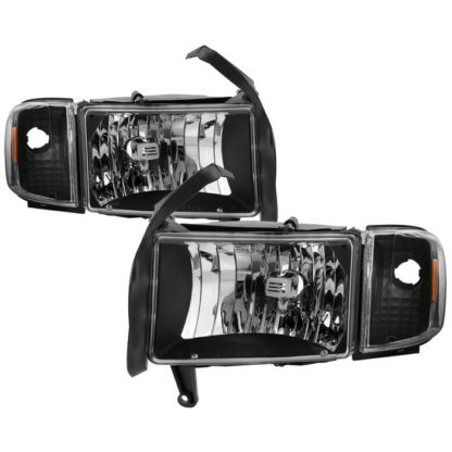 ( xTune ) Dodge Ram 1500 94-01 ( 99-01 Don't Fit Sport Package Models ) / Ram 2500 3500 94-02 OEM Style Headlights with Corner Lamps - Black