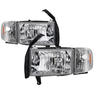 ( OE ) Dodge Ram 1500 94-01 ( 99-01 Don't Fit Sport Package Models ) / Ram 2500 3500 94-02 Headlights with Corner Lamps – OEM