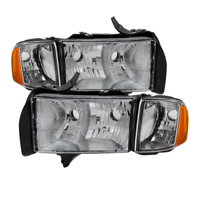 ( OE ) Dodge Ram Sport Model Only 1999-2002 OEM headlights Chrome