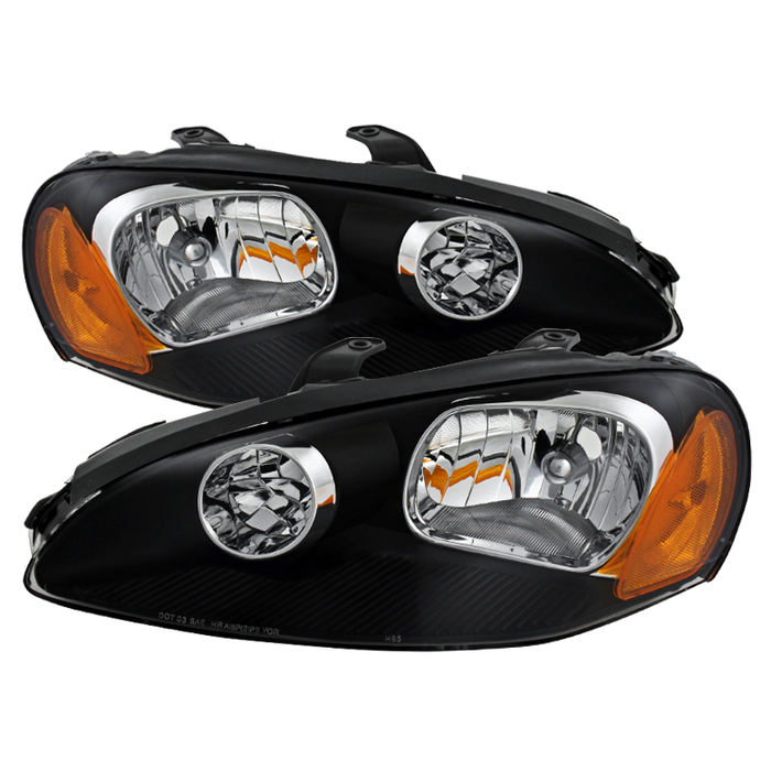 ( xTune ) Dodge Stratus Coupe 2dr Only 03-05 Crystal Headlights - Black