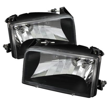 ( xTune ) Ford F150/Bronco 92-96 Crystal Headlights - Black