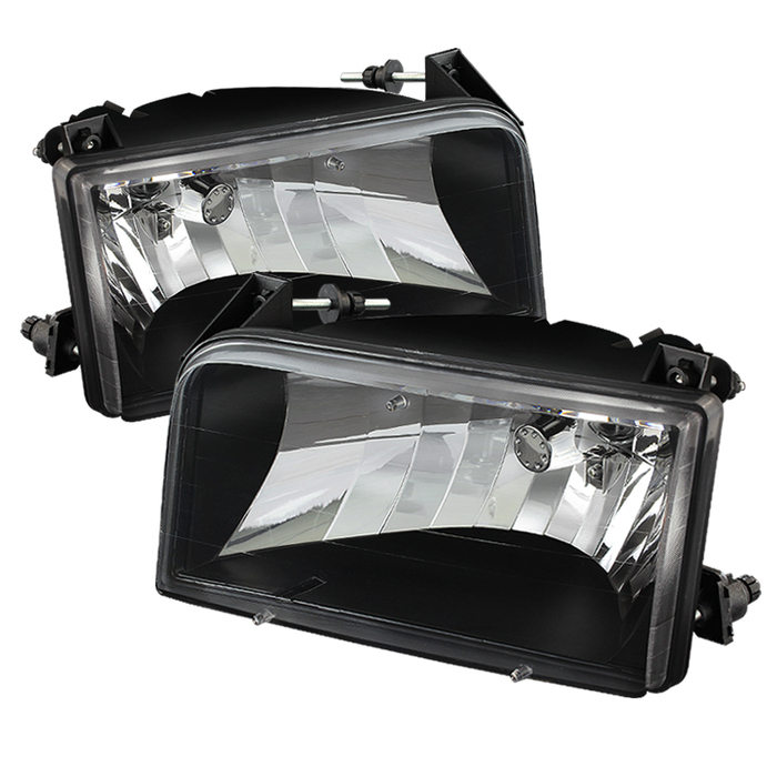 ( xTune ) Ford F150/Bronco 92-96 Crystal Headlights - Black