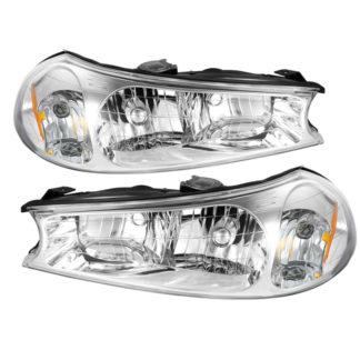 ( OE ) Ford Contour 98-00 Crystal Headlights - Chrome