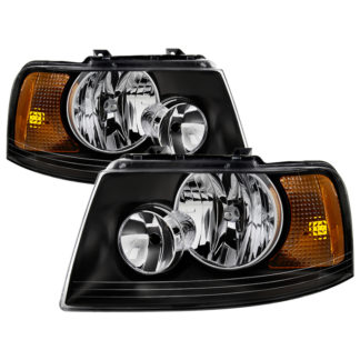 ( xTune ) Ford Expedition 03-06 OEM Style Headlights – Black