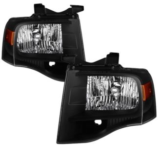 ( xTune ) Ford Expedition 2007-2014 OEM Style Headlights -Black