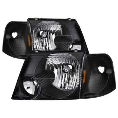 ( xTune ) Ford Explorer 02-05 4dr ( Won't fit Explorer Sport and Sport Trac Models ) OEM Style Headlights With Corner 4pcs sets - Black