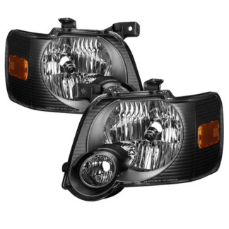 ( xTune ) Ford Explorer 2006-2010 OEM Style Headlights – Black
