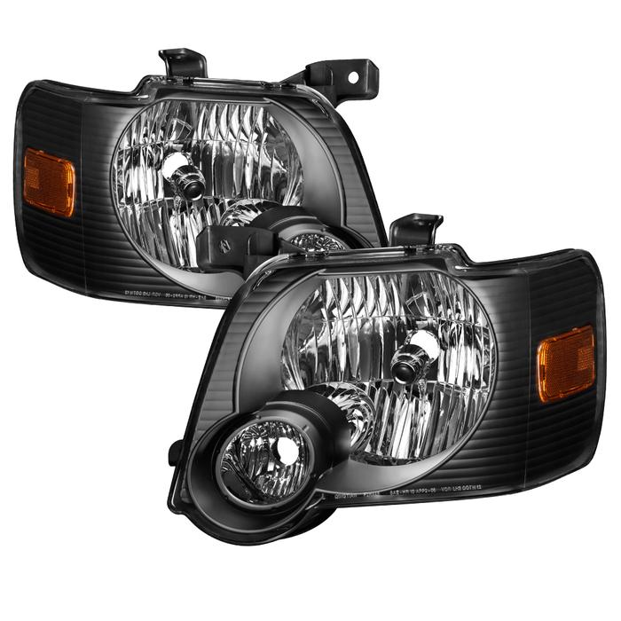 ( xTune ) Ford Explorer 2006-2010 OEM Style Headlights - Black