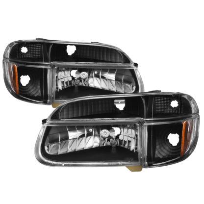 ( xTune ) Ford Explorer 95-01 / Mercury Mountaineer 1997 Crystal Headlights with Corner Signal 4pcs -Black