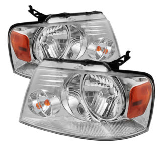 ( POE ) Ford F150 04-08 Amber Crystal Headlights – Chrome