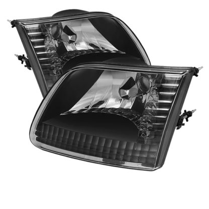 ( xTune ) Ford F150 97-03 / Expedition 97-02 ( Will Not Fit Anything Before Manu. Date June 1997 ) Crystal Headlights - Black