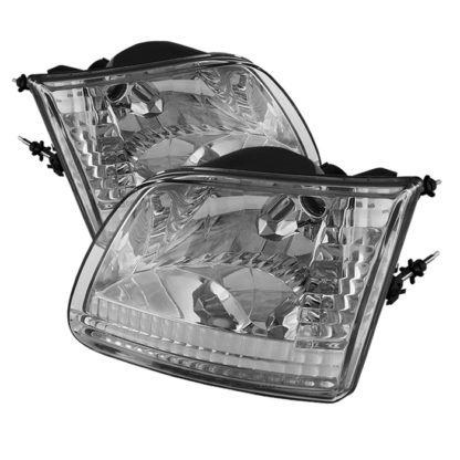 ( OE ) Ford F150 97-03 / Expedition 97-02 ( Will Not Fit Anything Before Manu. Date June 1997 ) Crystal Headlights - Chrome