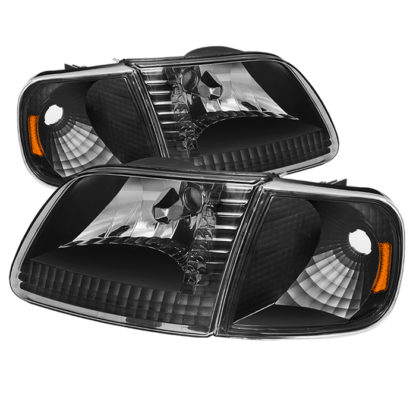 ( xTune ) Ford F150 97-03 / Expedition 97-02 Crystal Headlights w/Corner - Black