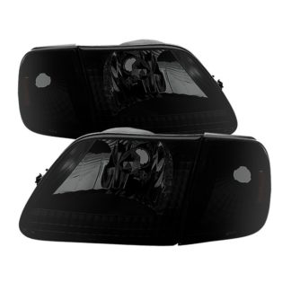 ( xTune ) Ford F150 97-03 / Expedition 97-02 Crystal Headlights w/Corner – Black Smoked