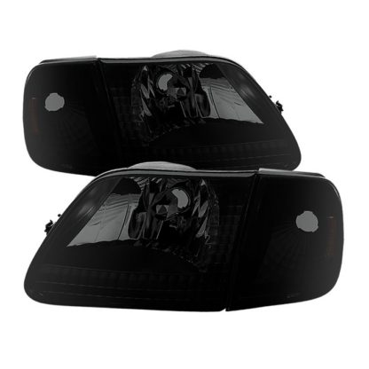 ( xTune ) Ford F150 97-03 / Expedition 97-02 Crystal Headlights w/Corner - Black Smoked