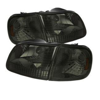 ( xTune ) Ford F150 97-03 / Expedition 97-02 Crystal Headlights w/Corner – Smoke