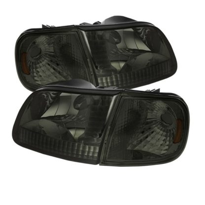 ( xTune ) Ford F150 97-03 / Expedition 97-02 Crystal Headlights w/Corner - Smoke