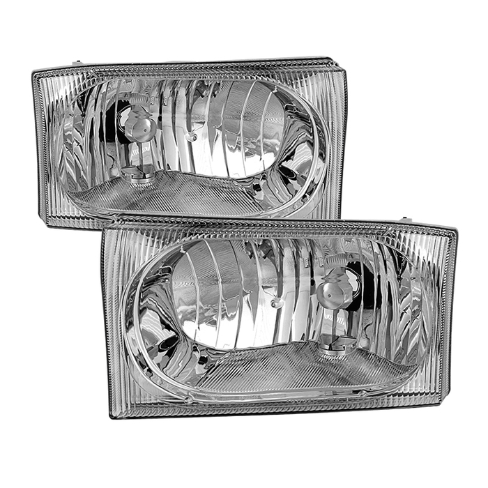 ( OE ) Ford F250 F350 F450 Superduty Excursion 99-04 OEM Style Headlights - Chrome