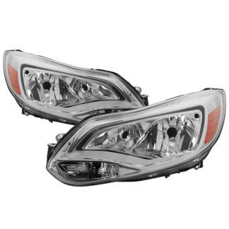 ( OE ) Ford Focus 2012-2014 Halogen Only ( Don't Fit HID models ) OEM Style Headlights - Chrome