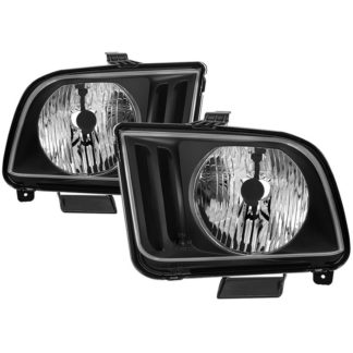 ( OE ) Ford Mustang 05-09 Halogen (Don't Fit Models With Factory HID Xenon & Shelby GT500/GT500KR Models ) OEM Style Headlights - Black