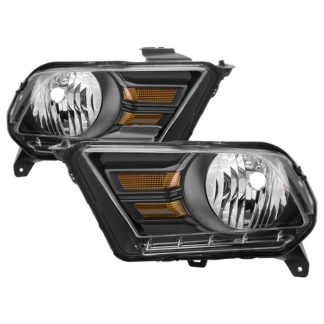 ( xTune ) Ford Mustang 2010-2014 Halogen (Don't Fit Models With Factory HID Xenon & Shelby GT500 Models ) OEM Style Headlights - Black