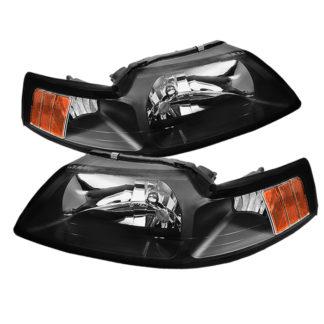 ( OE ) Ford Mustang 99-04 OEM Amber Headlights - Black