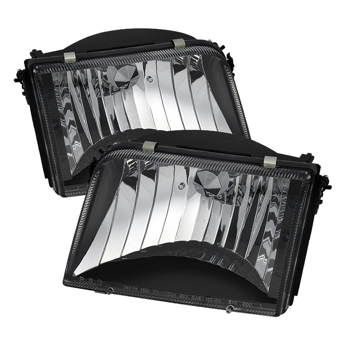 ( xTune ) Ford Ranger 93-97 Crystal Headlights - Black