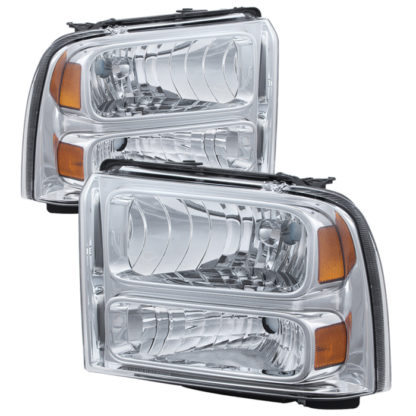 ( OE ) Ford F250/350/450 Super Duty 05-07 Crystal Headlights - Chrome