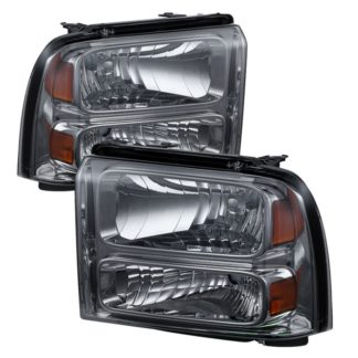 ( xTune ) Ford F250/350/450 Super Duty 05-07 Crystal Headlights – Smoke