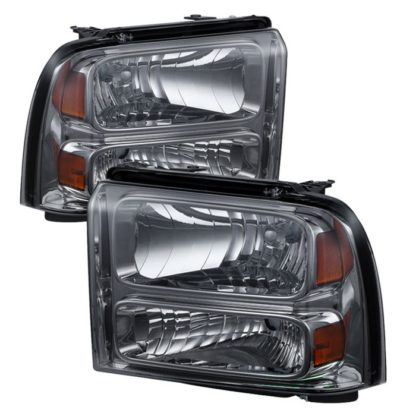 ( xTune ) Ford F250/350/450 Super Duty 05-07 Crystal Headlights - Smoke