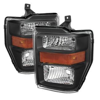 ( POE ) Ford F250/350/450 Super Duty 08-10 OEM Headlights - Black