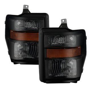 ( POE ) Ford F250/350/450 Super Duty 08-10 OEM Headlights - Black Smoked