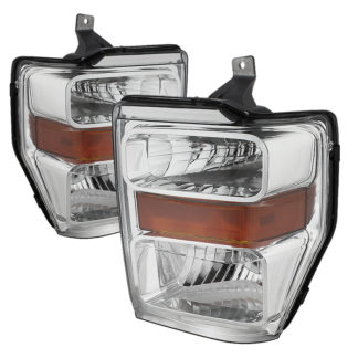 ( POE ) Ford F250/350/450 Super Duty 08-10 OEM Headlights - Chrome