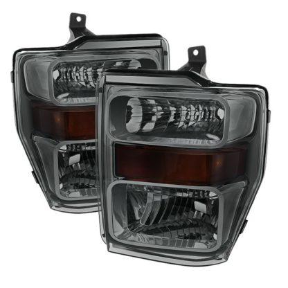 ( POE )) Ford F250/350/450 Super Duty 08-10 OEM Headlights - Smoke