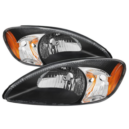( xTune ) Ford Taurus 2000-2007 Crystal Headlights - Black