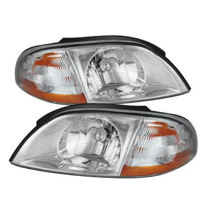( OE ) Ford Windstar 99-03 Crystal Headlights - Chrome