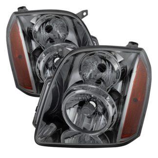 ( xTune ) GMC Yukon/Yukon XL 07-14 ( Don't fit Denali Model ) Crystal Headlights – Smoke