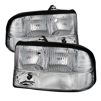 ( OE ) GMC S-15 Sonoma 98-04 (with Fog Lights Models Only)/GMC Jimmy S-15 98-01 (with Fog Lights Models Only)/Oldsmobile Bravada 98-01 (with Fog Lights Models Only) Crystal Headlights – Chrome