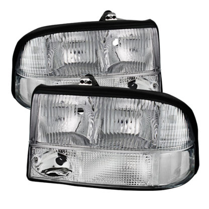 ( OE ) GMC S-15 Sonoma 98-04 (with Fog Lights Models Only)/GMC Jimmy S-15 98-01 (with Fog Lights Models Only)/Oldsmobile Bravada 98-01 (with Fog Lights Models Only) Crystal Headlights - Chrome