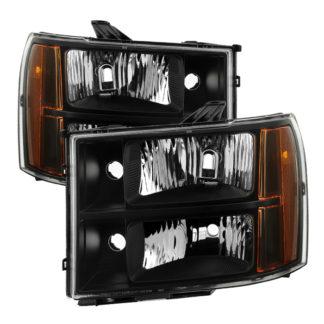 ( xTune ) GMC Sierra 07-13 Crystal Headlights – Black