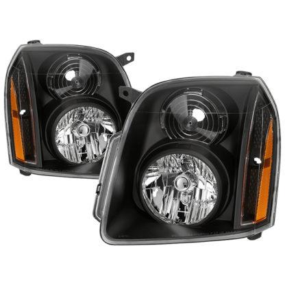 ( xTune ) GMC Yukon Denali 07-14/Yukon XL Denali 07-14/Yukon Hybrid Denali 10-14Crystal Headlights - Black