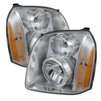 ( OE ) GMC Yukon Denali 07-14/Yukon XL Denali 07-14/Yukon Hybrid Denali 10-14Crystal Headlights - Chrome