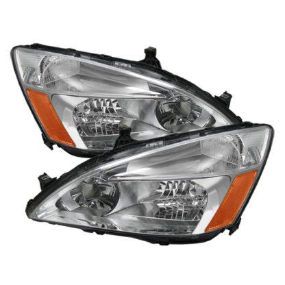 ( OE ) Honda Accord 03-07 Amber Crystal Headlights - Chrome